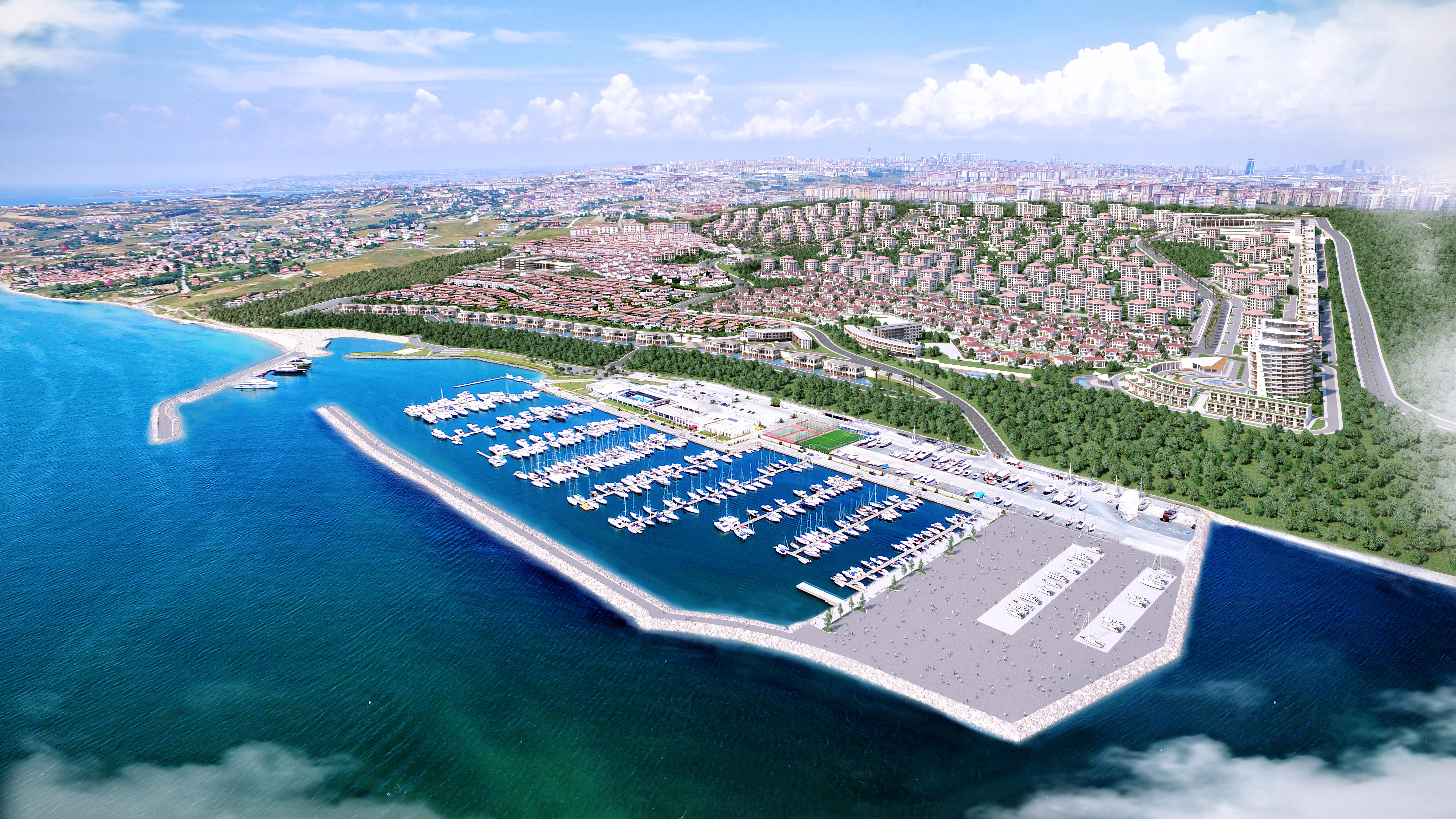تركيا اسطنبول بيليك دوزو شقق باطلالات بحرية للبيع في اسطنبول hr-116